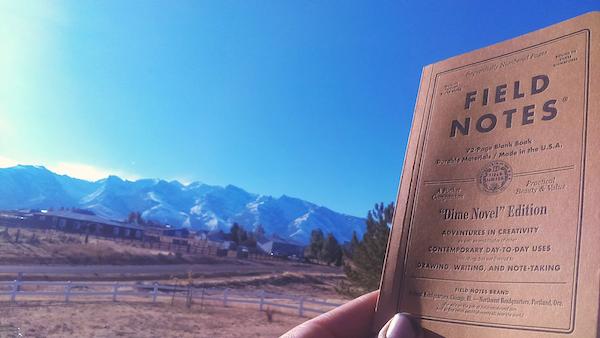 Dime Novel Edition against a mountain backdrop